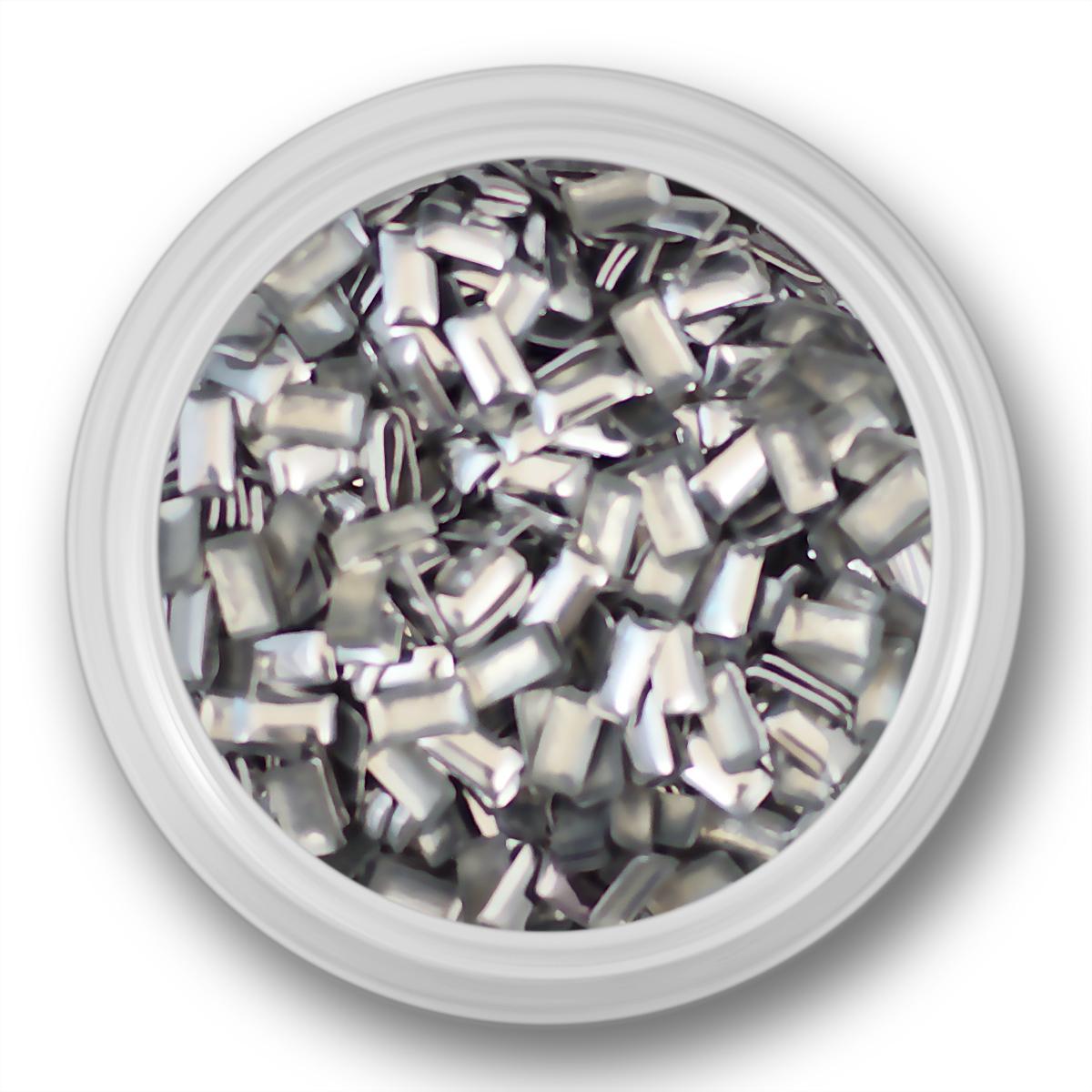 Image of   Rektangulære sølv nitter, 4mm