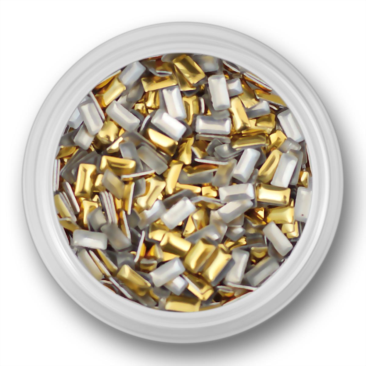 Image of   Rektangulære guld nitter, 4mm