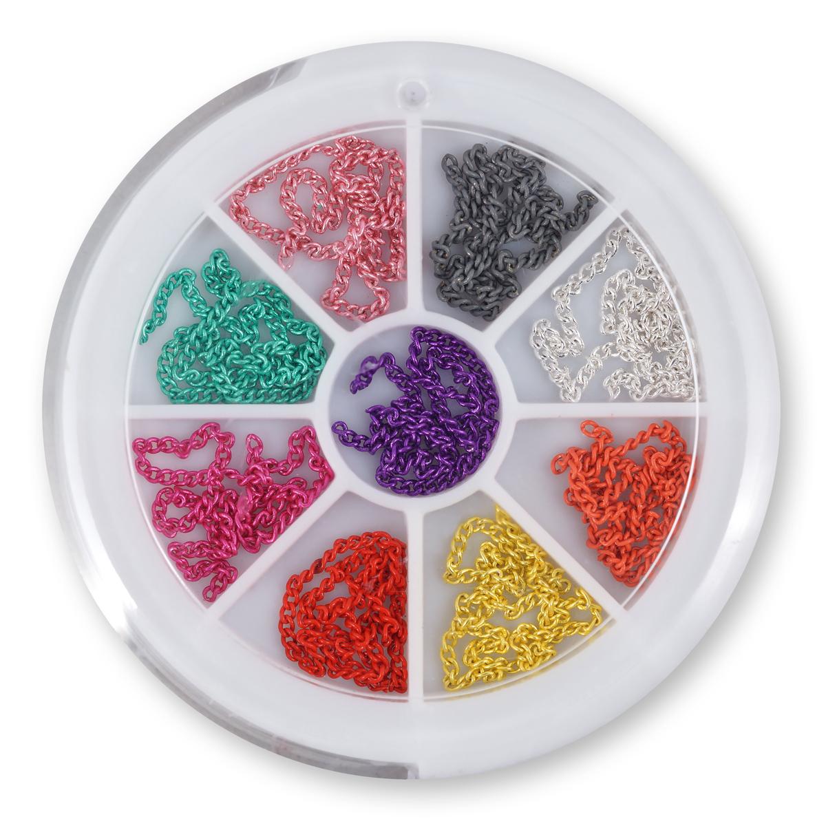 Image of   Hjul med forskellige farvede metalkæder