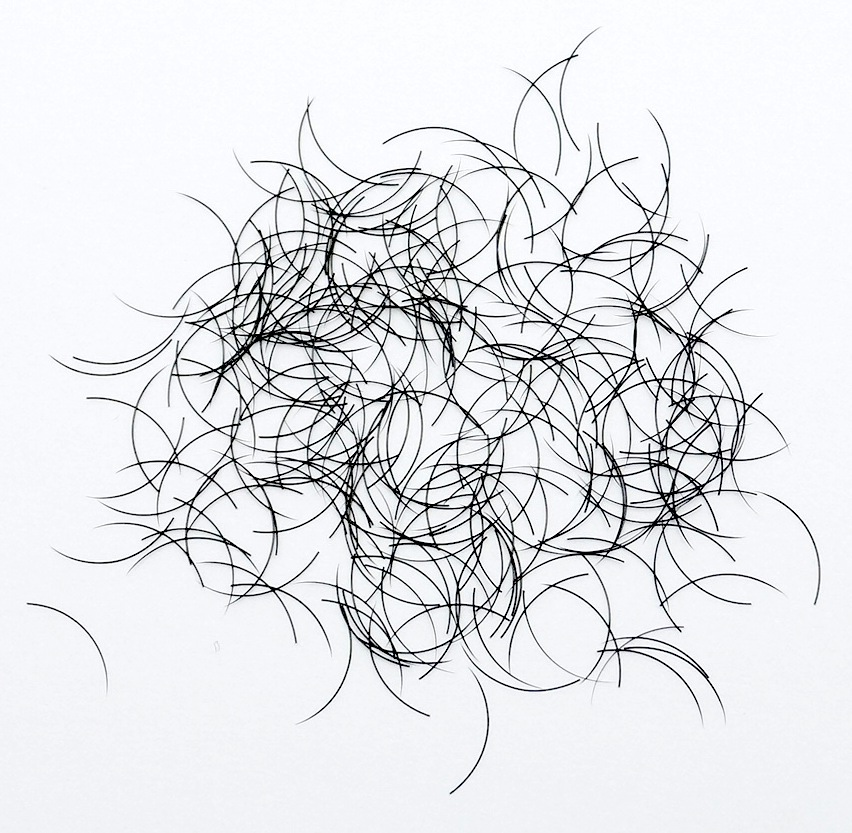 Silke Eyelashes, 1g, ca 1000 stk. J kurve, 8mm, o,15mm tyk thumbnail