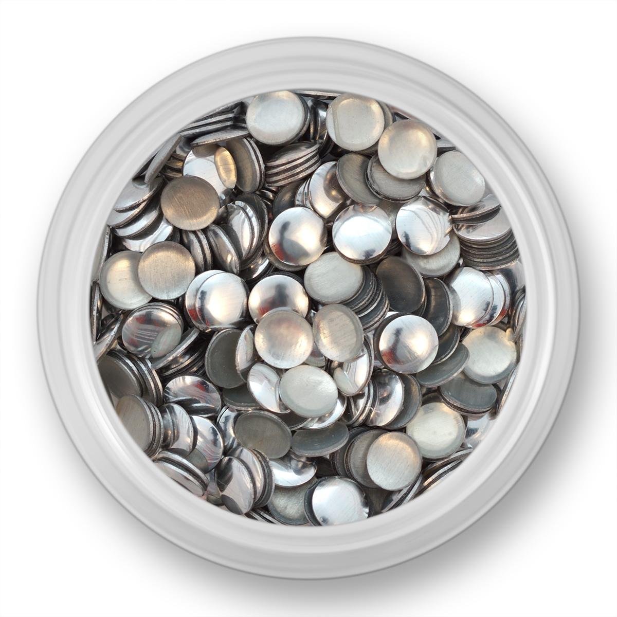 Image of   Runde sølv nitter,