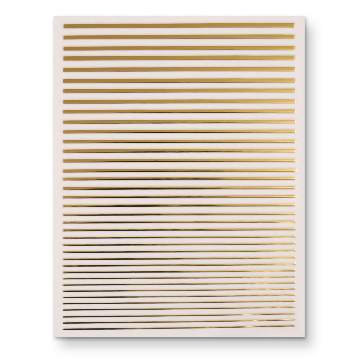 Image of   3D fleksible metal striber i guld