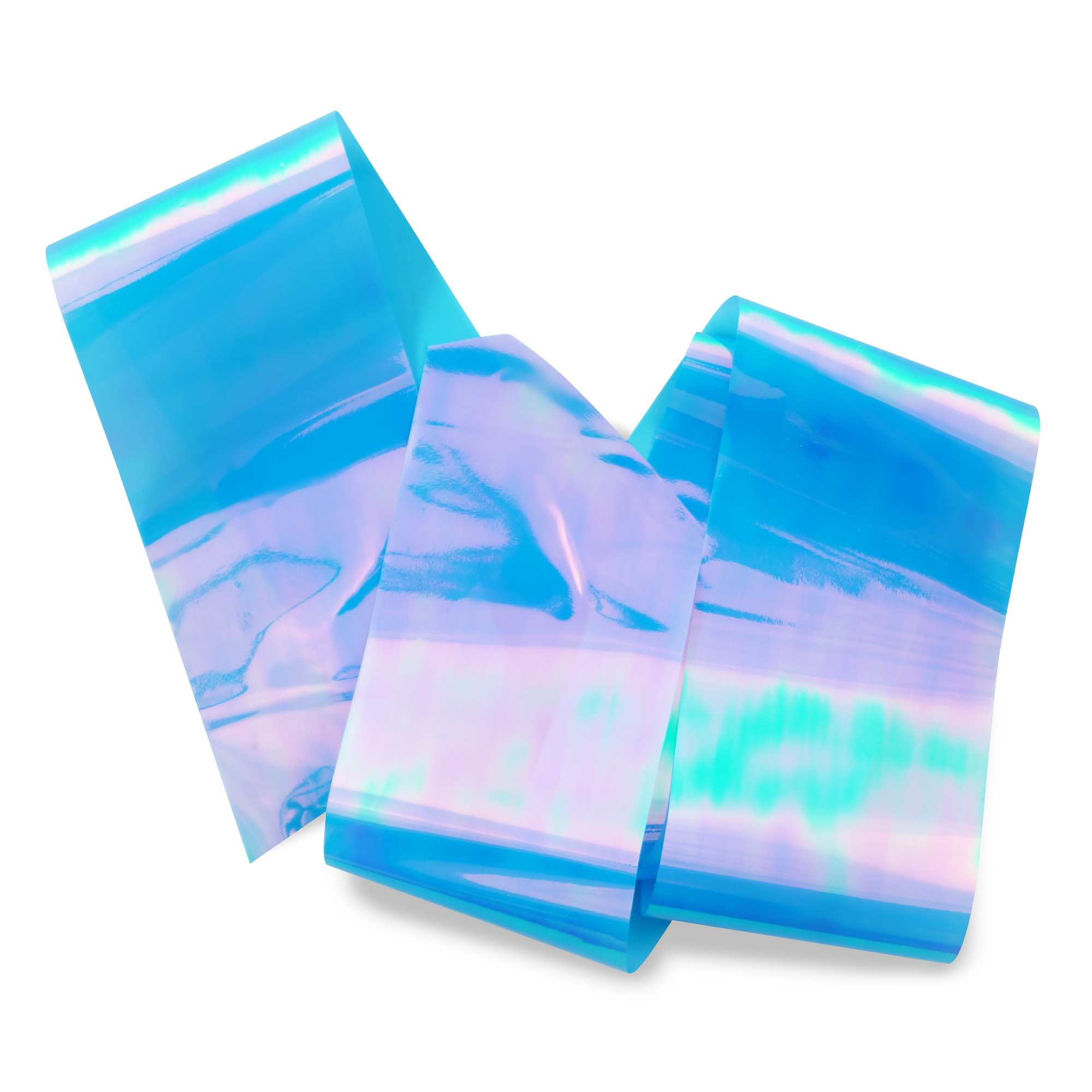 Image of   Glas folie, Blue oil slick
