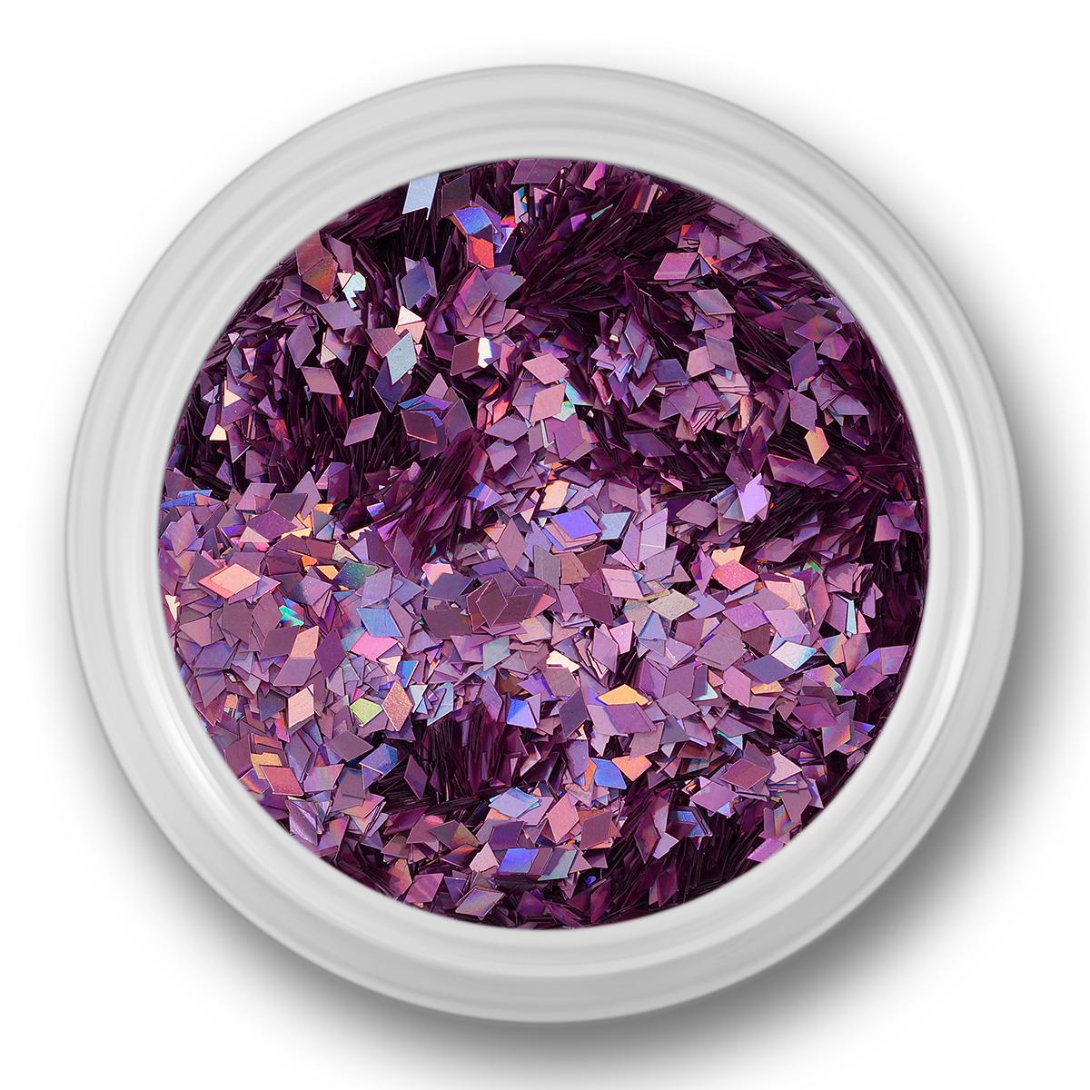 Image of   Glitter Dust, rhombe, lyserød