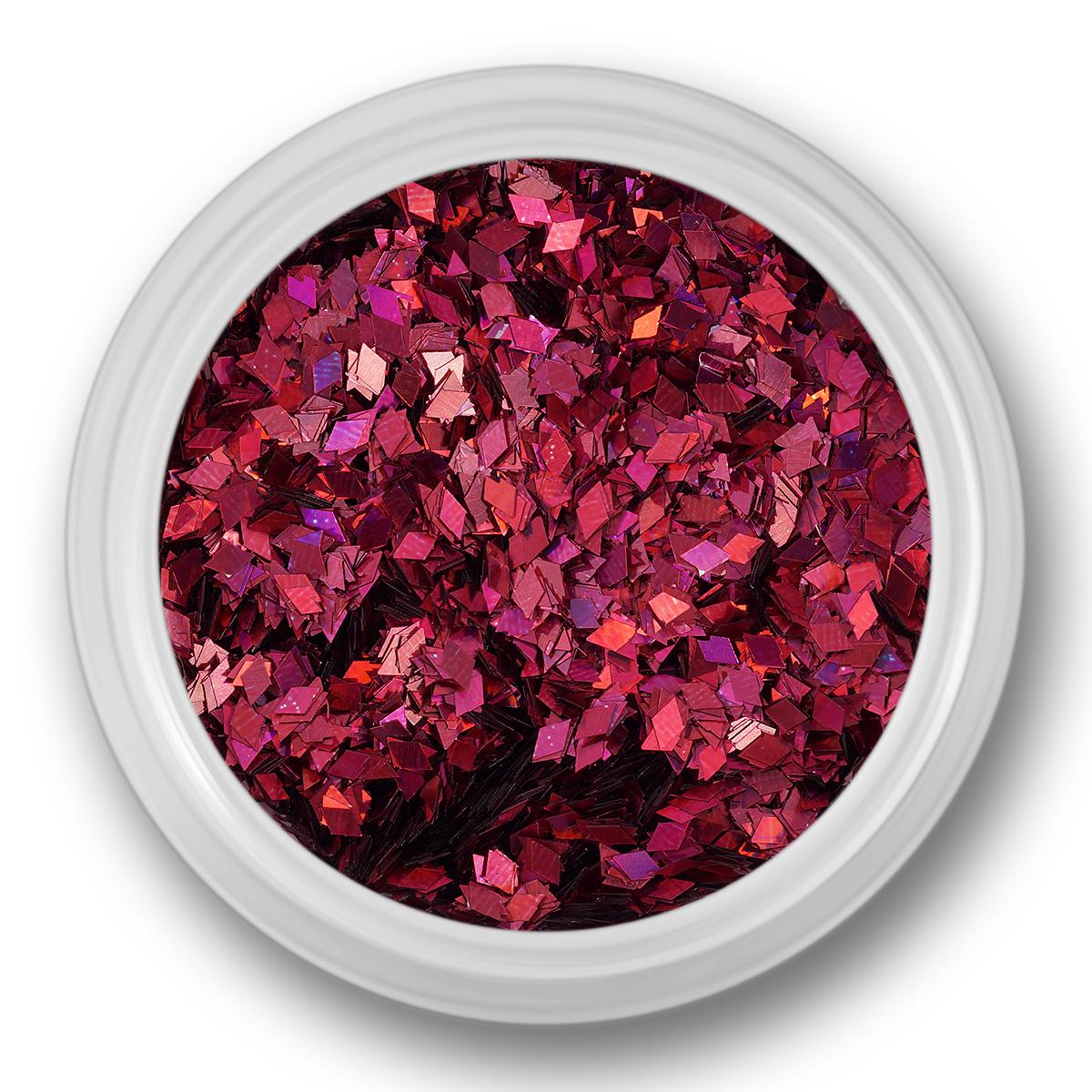 Image of   Glitter Dust, rhombe, mørk pink