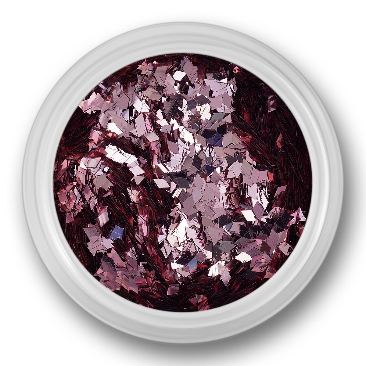 Image of   Glitter Dust, rhombe, sart lyserød