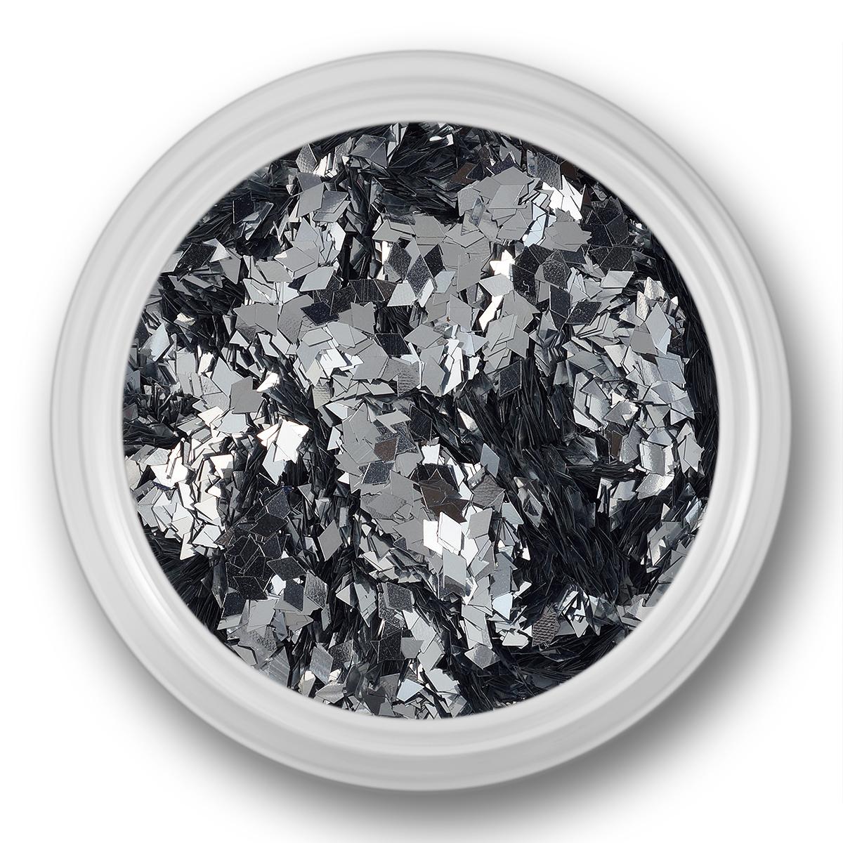 Image of   Glitter Dust, rhombe, sølv