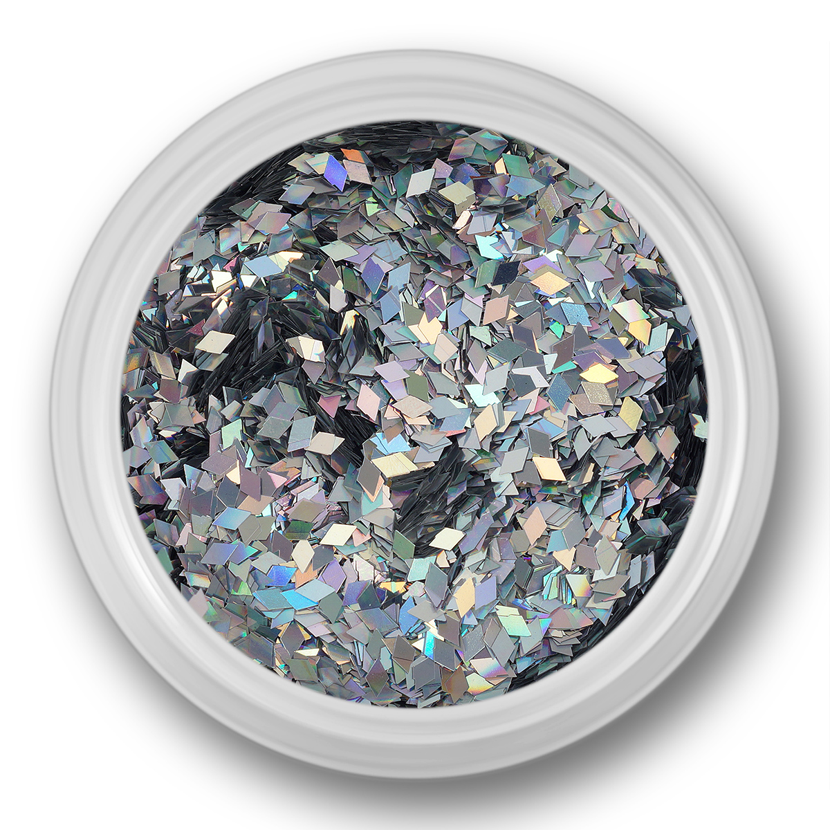 Image of   Glitter Dust, rhombe, sølvmultifarve