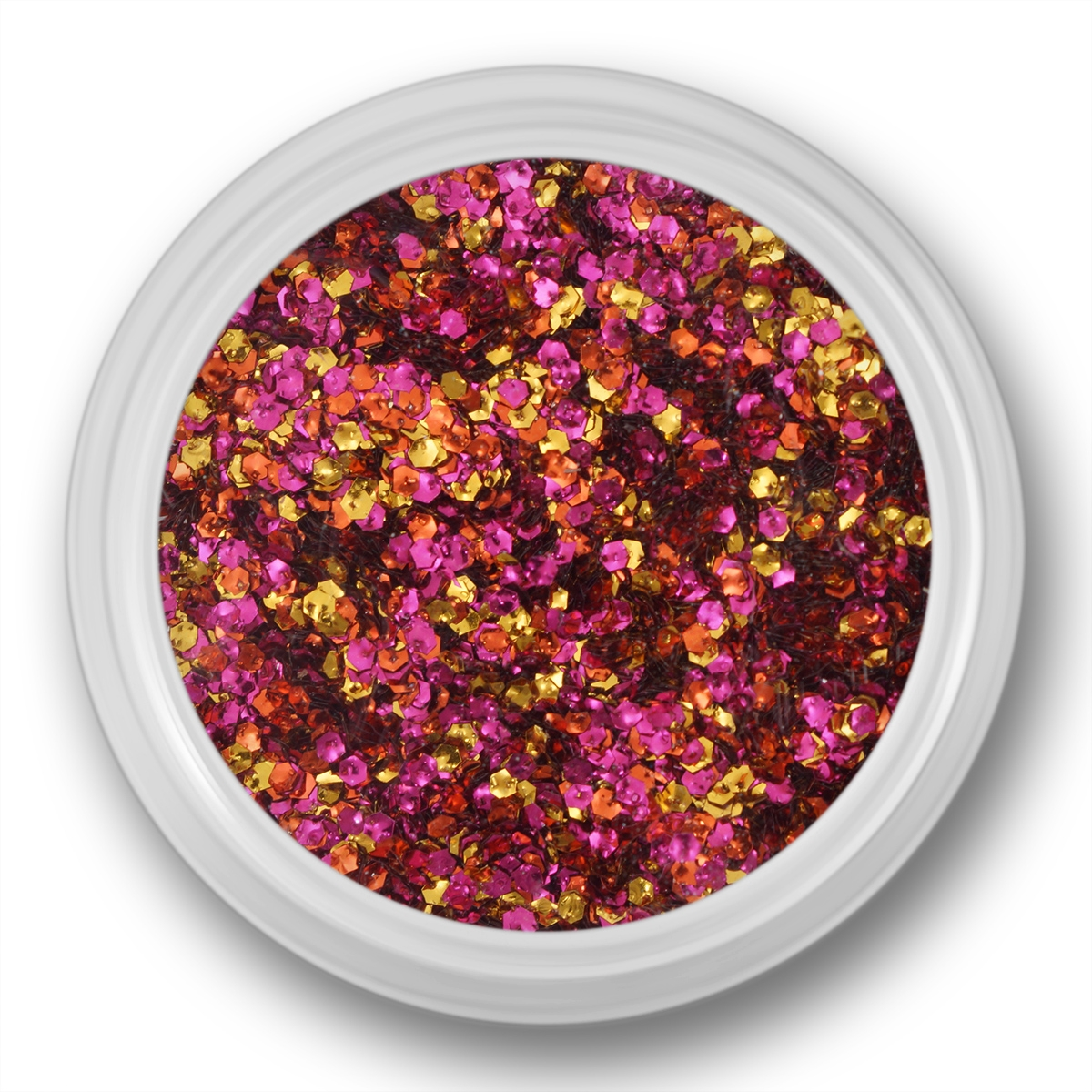 Image of   Glitter Dust, hexagon, rosa, guld, bronze