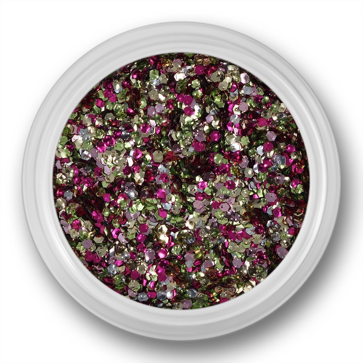 Image of   Glitter Dust, hexagon, sølv, guld, pink, grøn