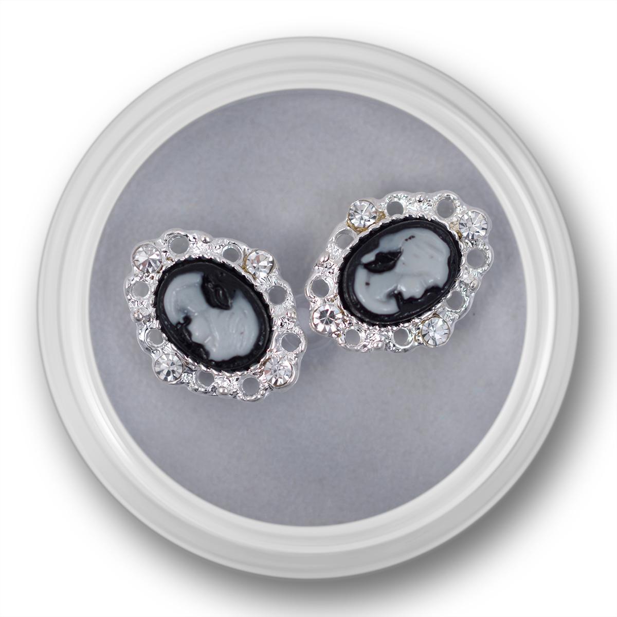 Image of   2 stk. 3D Camé i sort og sølv