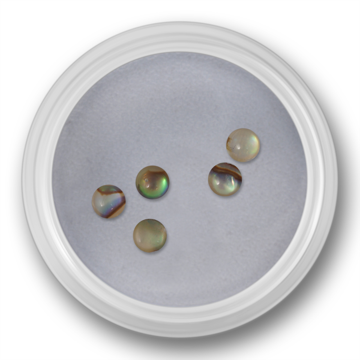 Image of   Halve perler, lys perlemor