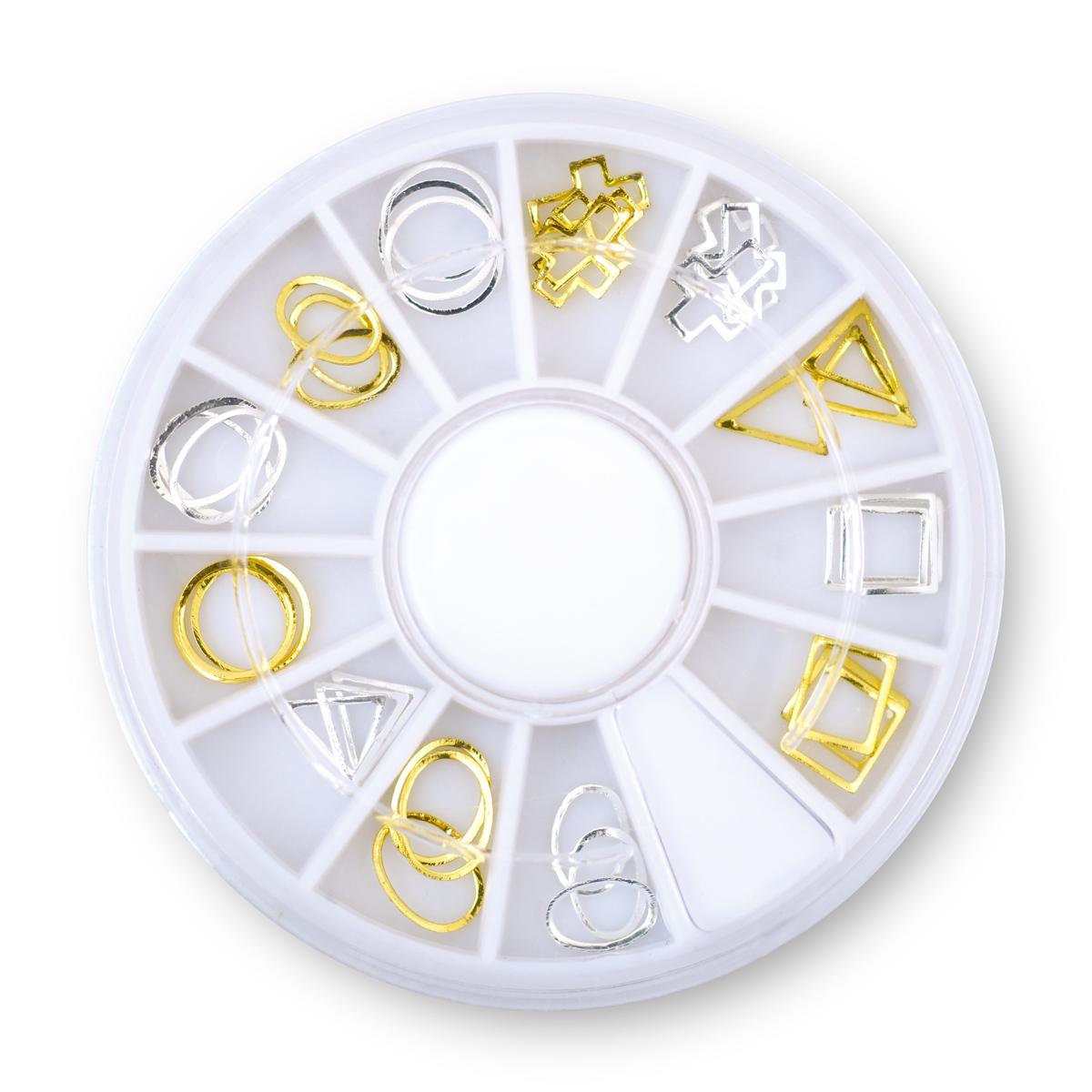 Image of   Hjul med forskellig metalpynt