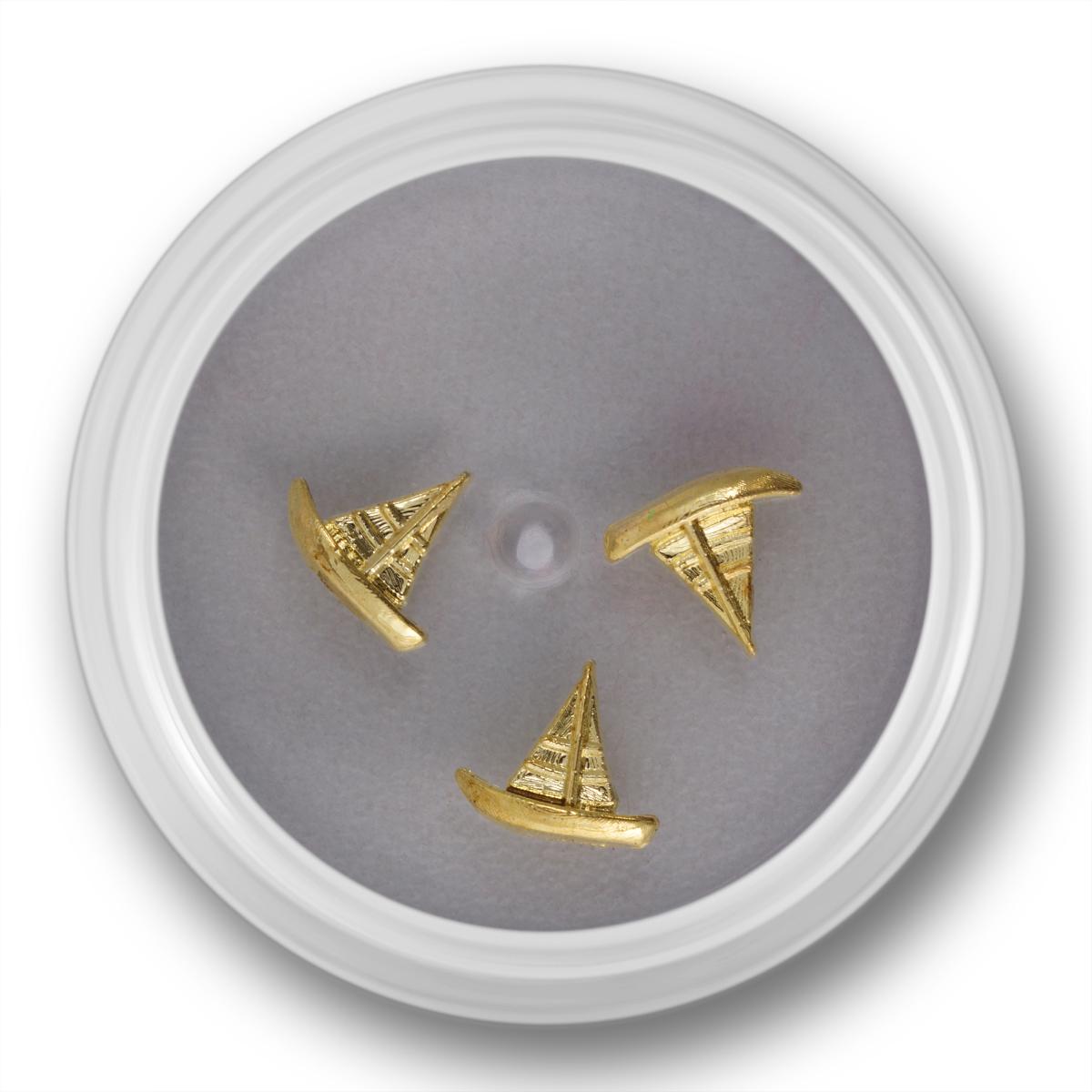 Image of   Negle smykke, skib, guld, 3 stk