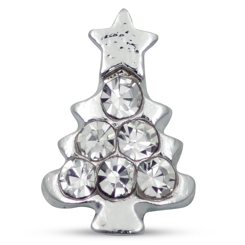 Image of   Juletræ sølv, 3 stk
