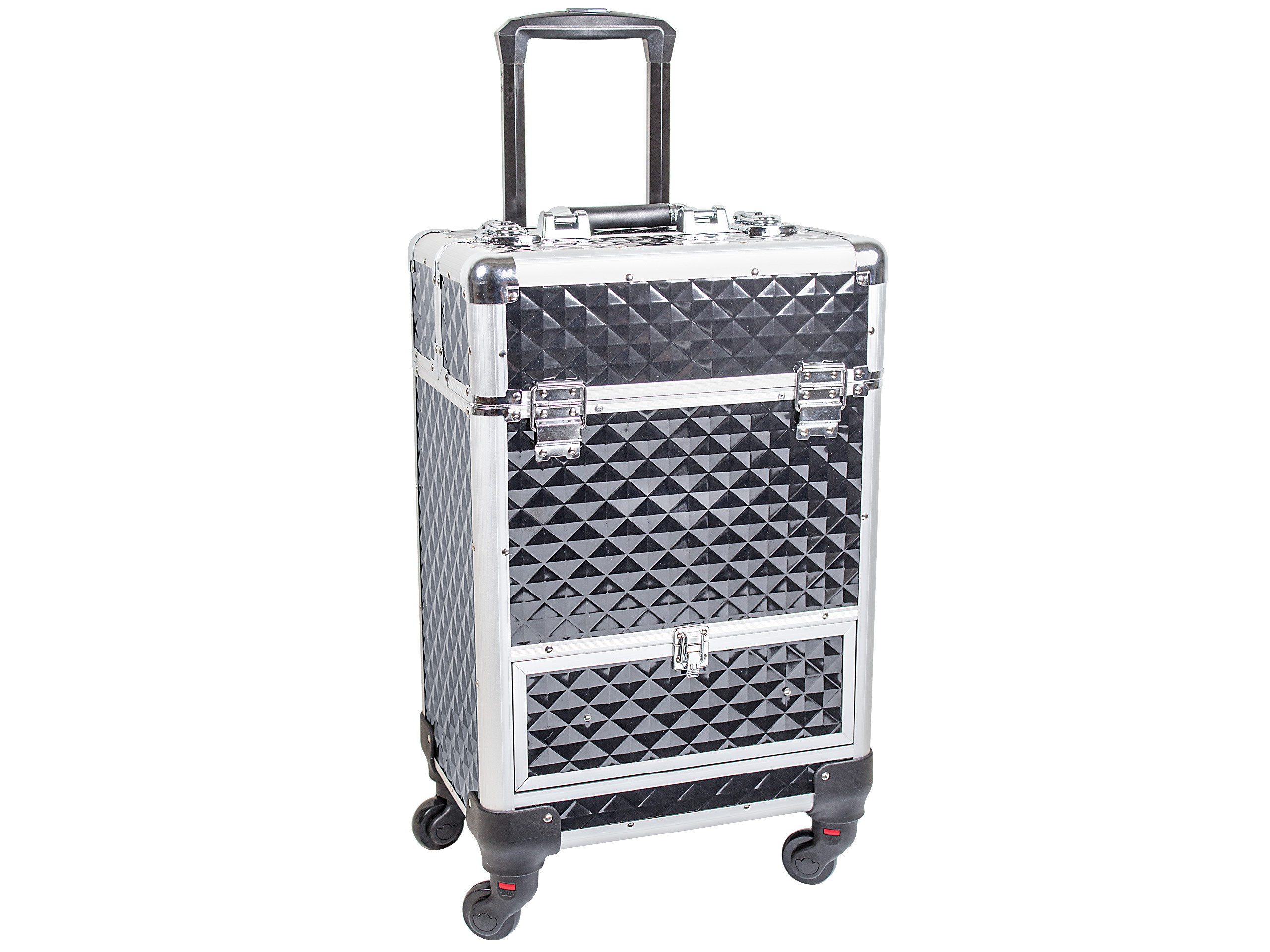 Image of   Beauty box - trolley i sort alu