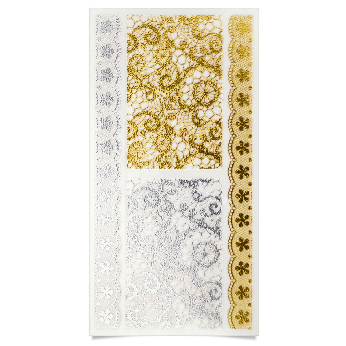 Image of   Negle Sticker, blonde i sølv og guld