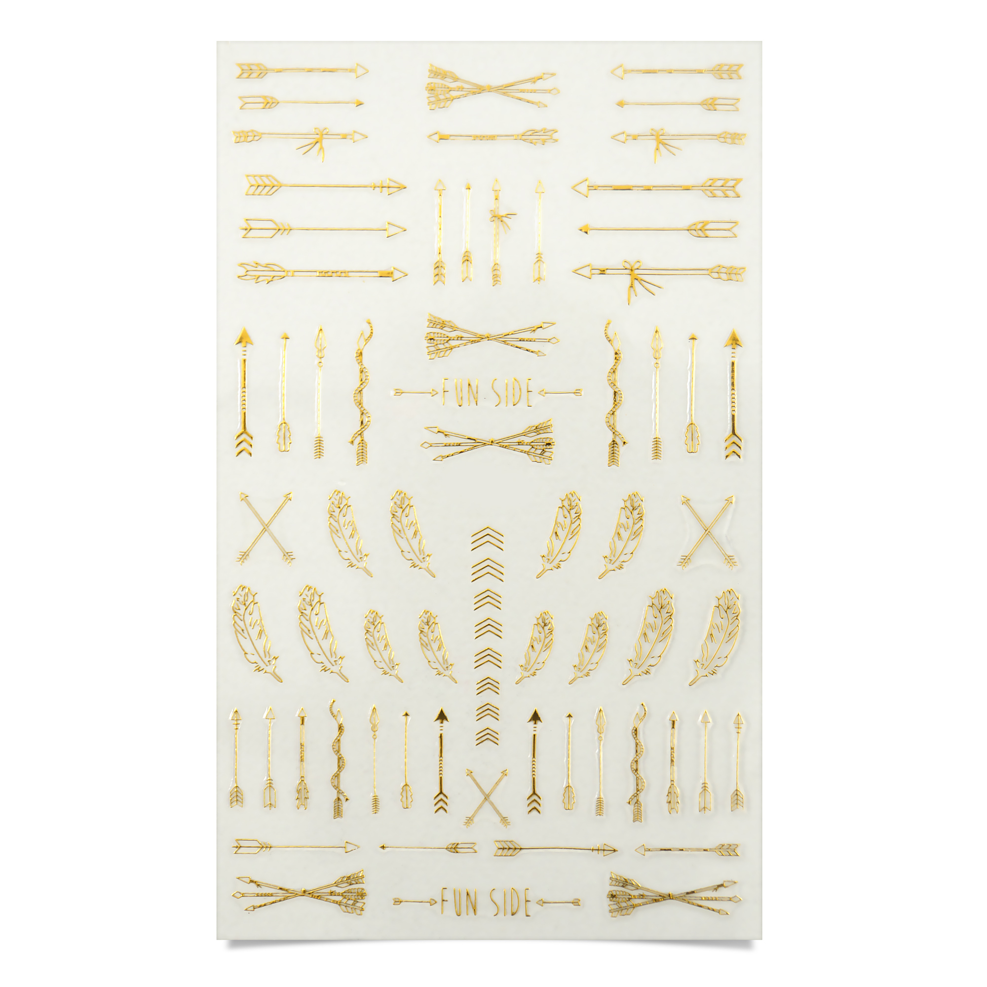 Image of   Negle Sticker, Arrows Gold