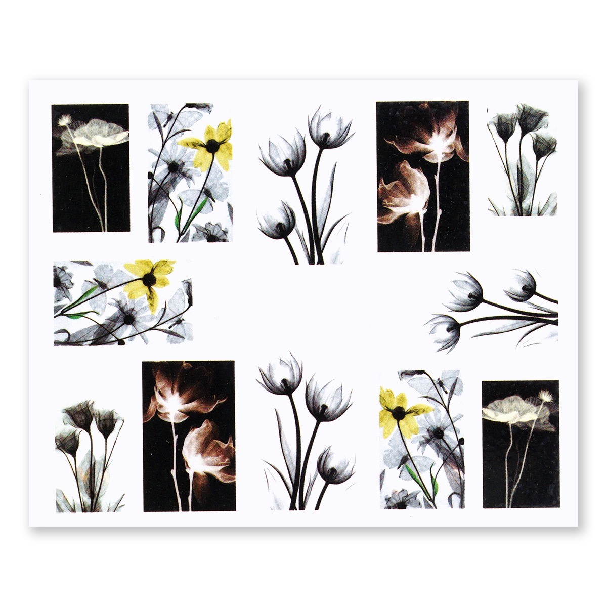 Image of   Water Decal, fine akvarel blomster