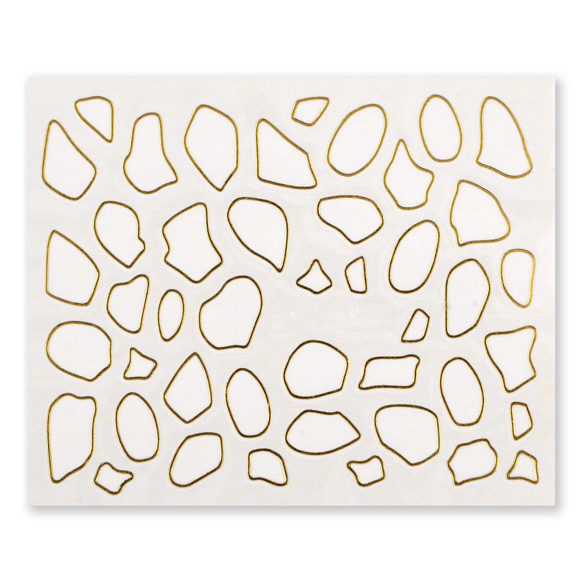 Image of   Water Decal, girafpletter i guld