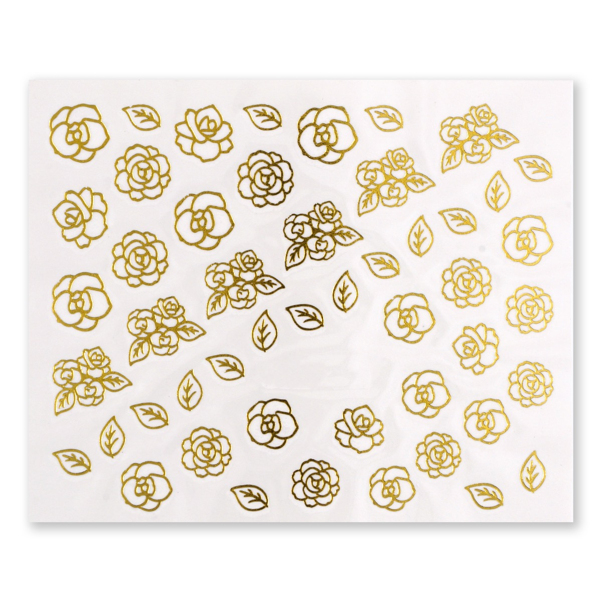 Image of   Water Decal, roser i guld